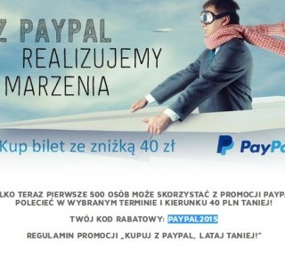 lot paypal 40pln